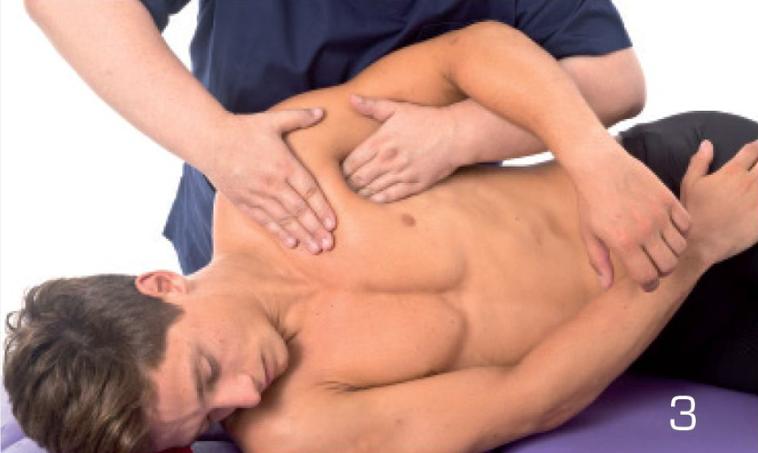 3 側躺 圖╱摘自《肌筋膜徒手按摩解剖書:5大部位x 10種手法x 7道程序,紓...