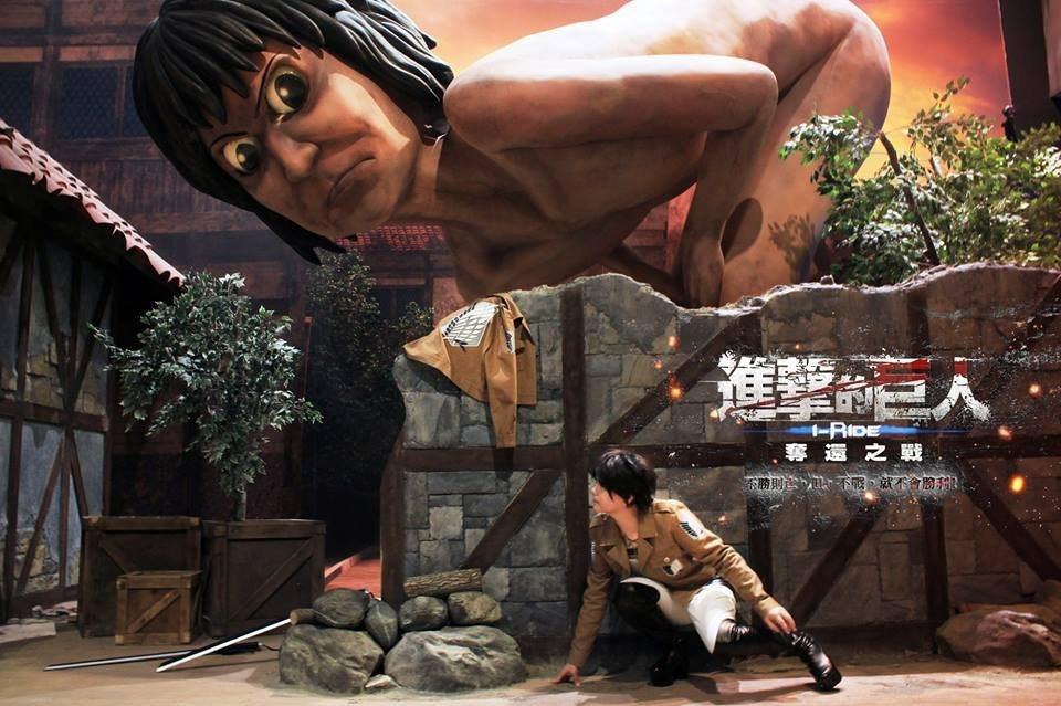 《尚順育樂天地》創造5D體感樂園,其中與日本動畫合作「進擊的巨人飛行劇院」吸引許...
