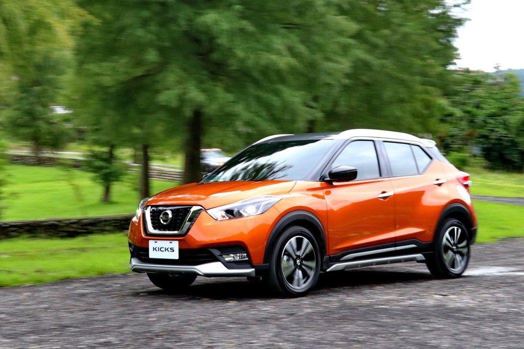 Nissan Kicks擁有動感外型及充足動力。 記者陳威任/攝影