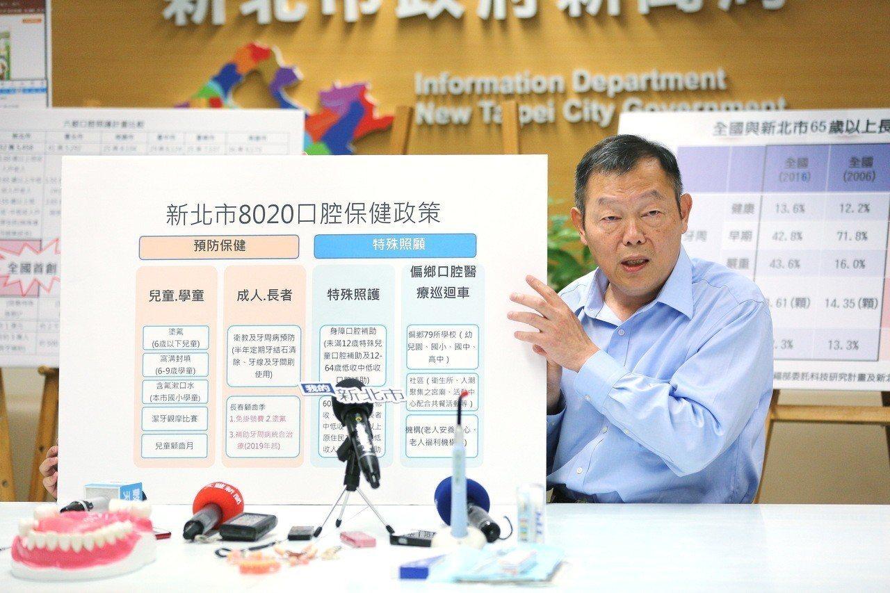 林奇宏指出,補助裝置假牙只是治標不治本的思維,應該使民眾建立良好的口腔清潔、規律...