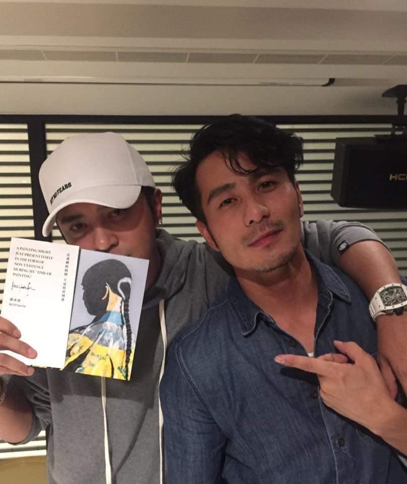 羅志祥(左)力挺郭彥甫。圖/摘自郭彥甫臉書