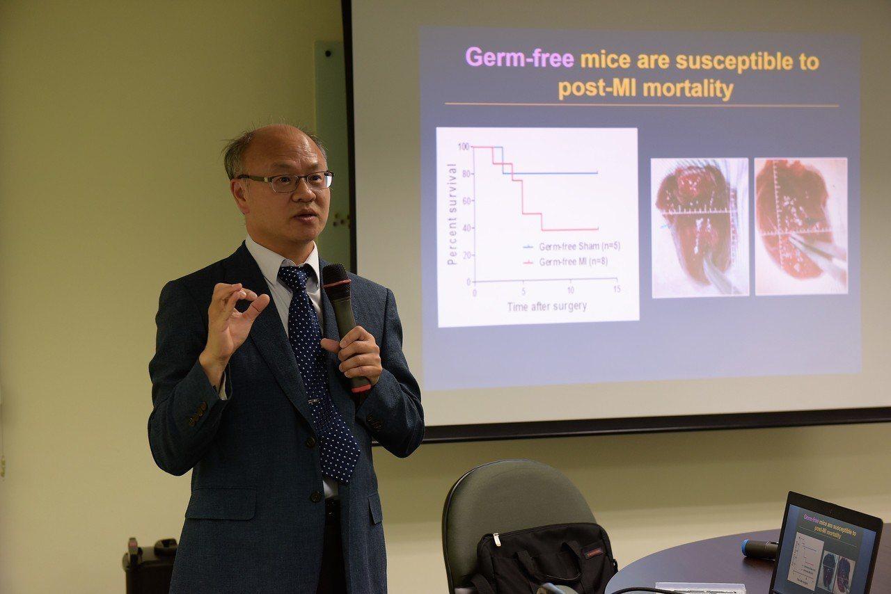 中研院生醫所研究員謝清河(圖)團隊發現,濫用抗生素將大幅提高心血管疾病死亡率,若...