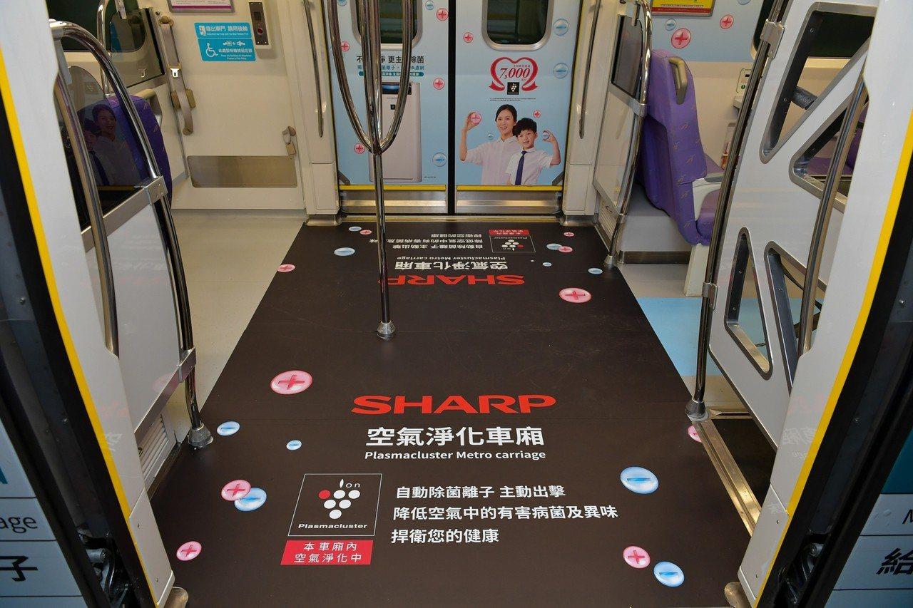 車廂內外都有專屬主題佈置。圖/台灣夏普提供