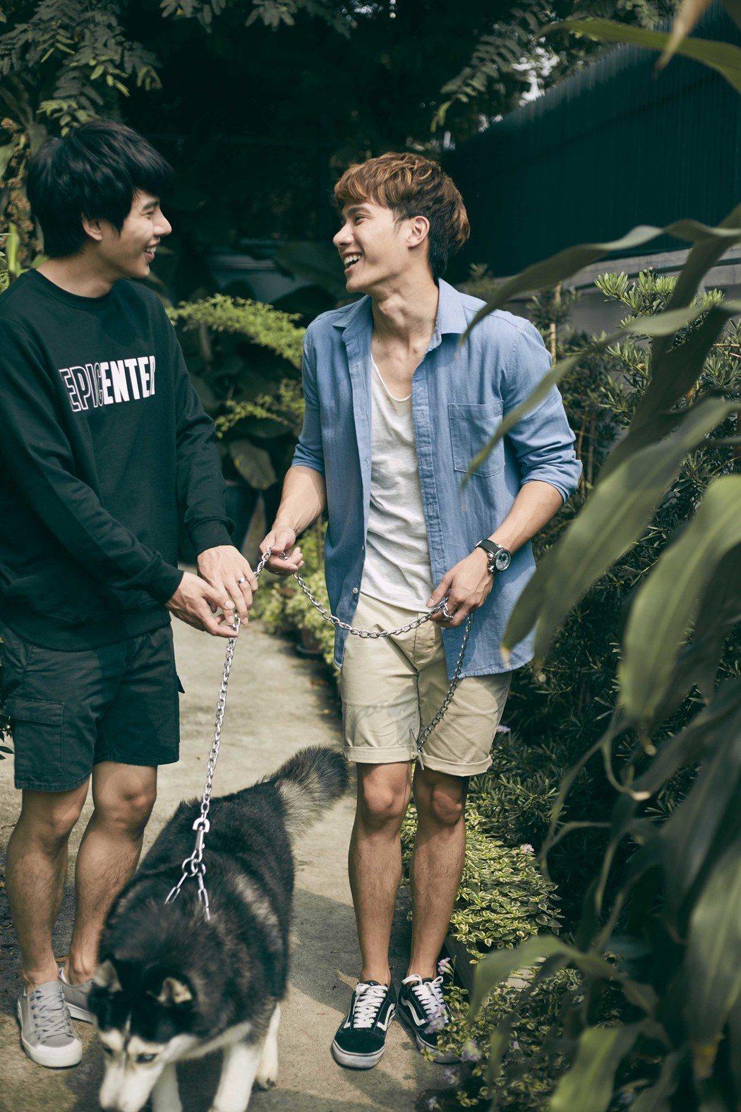 泰國BL劇「醉後愛上你2」主演Tul(右)、Max。將來台宣傳。圖/CHOCO ...
