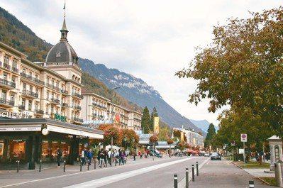 美麗怡人的茵特拉根,吸引全球無數旅人造訪。 攝影/陳志光