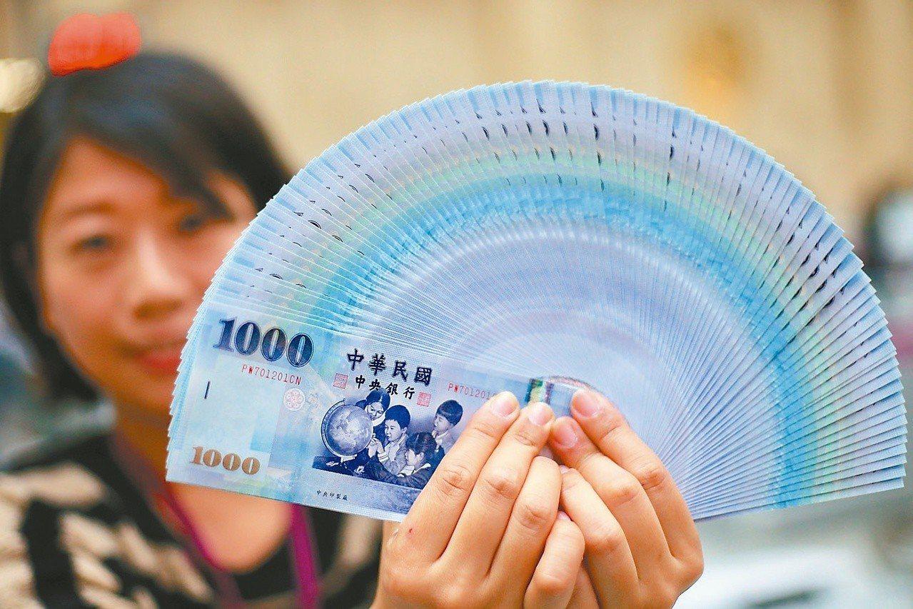 新台幣今(19)日午盤以30.953元兌1美元,升值2.2分暫收,成交金額為3....