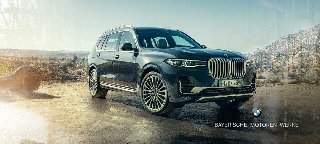 全新BMW X7為品牌最為頂尖且高貴的休旅車。 摘自BMW