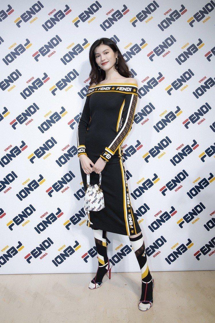 何穗出席上海場次FENDI Mania系列店上活動。圖/FENDI提供