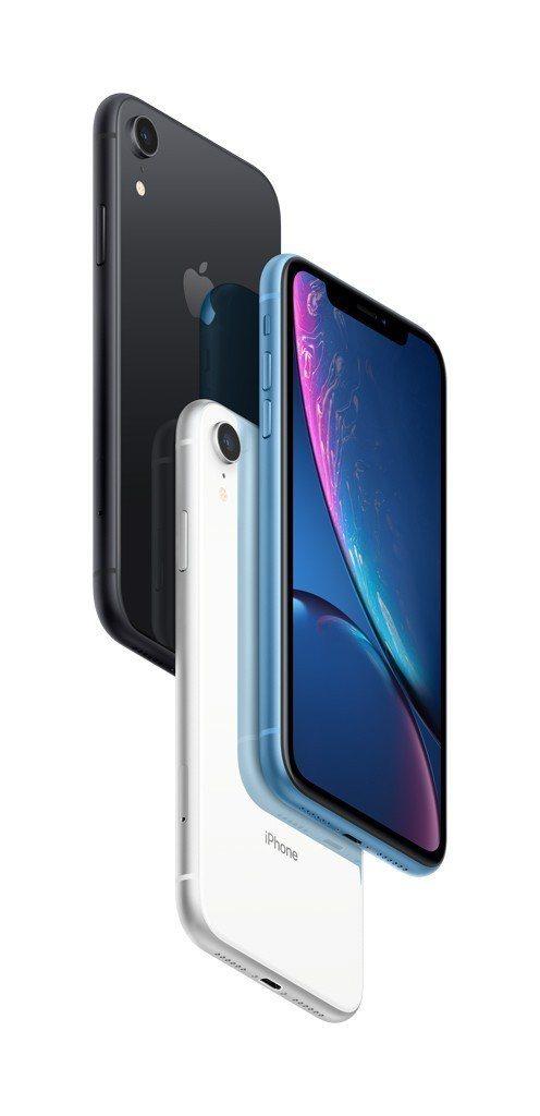 共有6色之多的iPhone XR系列,台灣大哥大目前預約卻以黑、白兩款基本色最受...