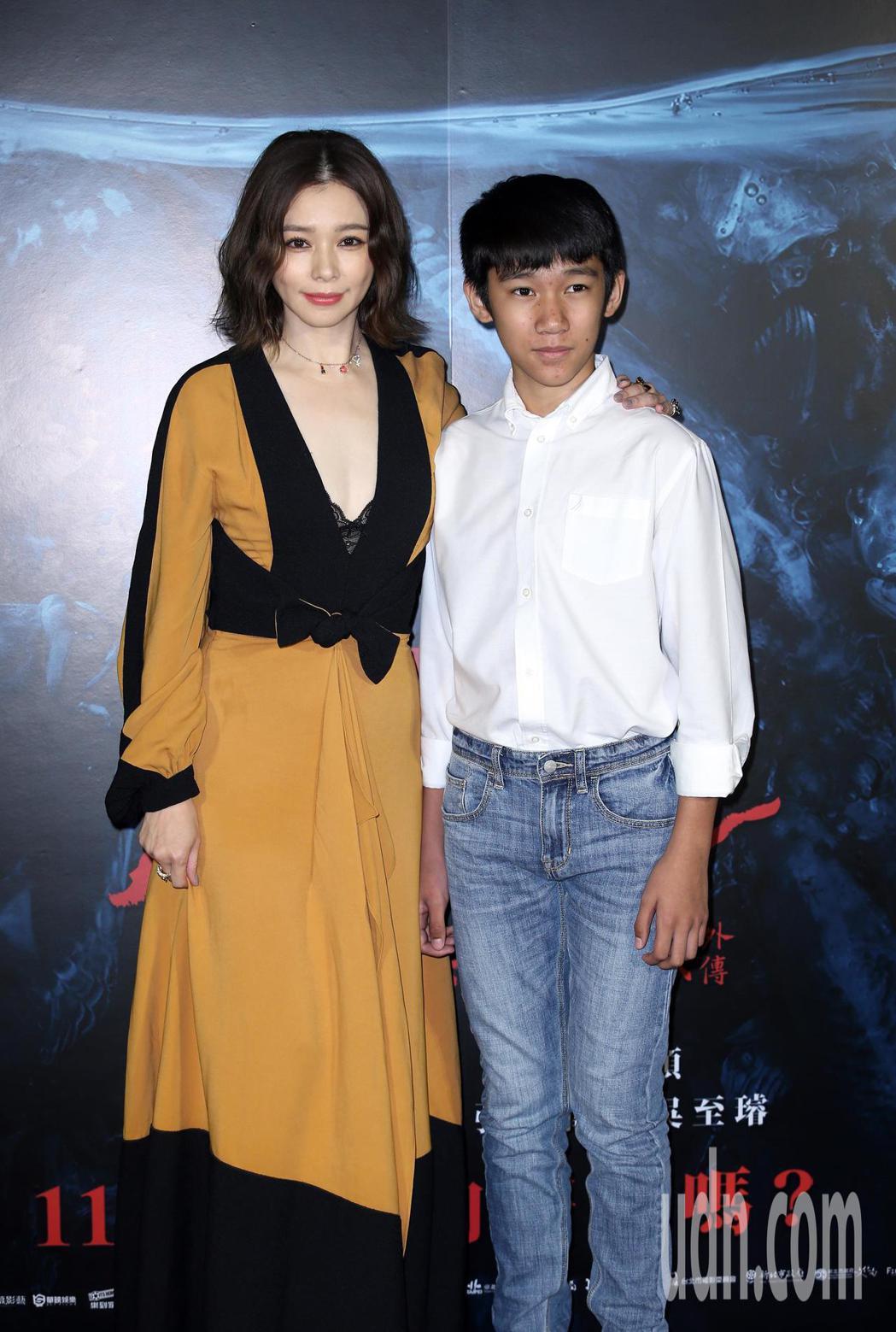 《人面魚-紅衣小女孩外傳》正式預告發布會,演員徐若瑄、童星吳至璿出席。記者曾吉松