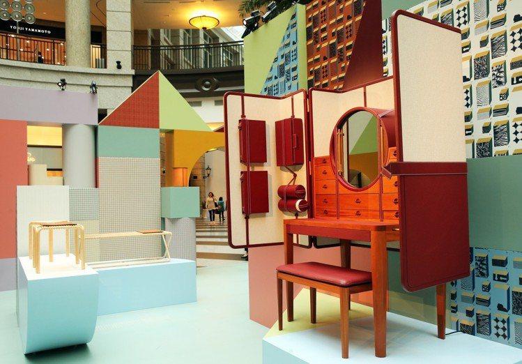 「空間之間」的藝術裝置展覽現場。圖/記者徐兆玄攝影