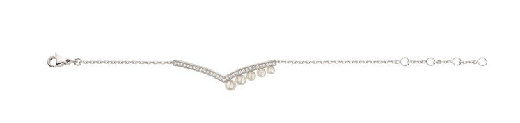 Joséphine Aigrette 18K白金珍珠手鍊,14萬5000元。圖...