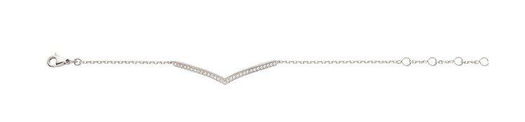 Joséphine Aigrette 18K白金鑽石手鍊,13萬3000元。圖...