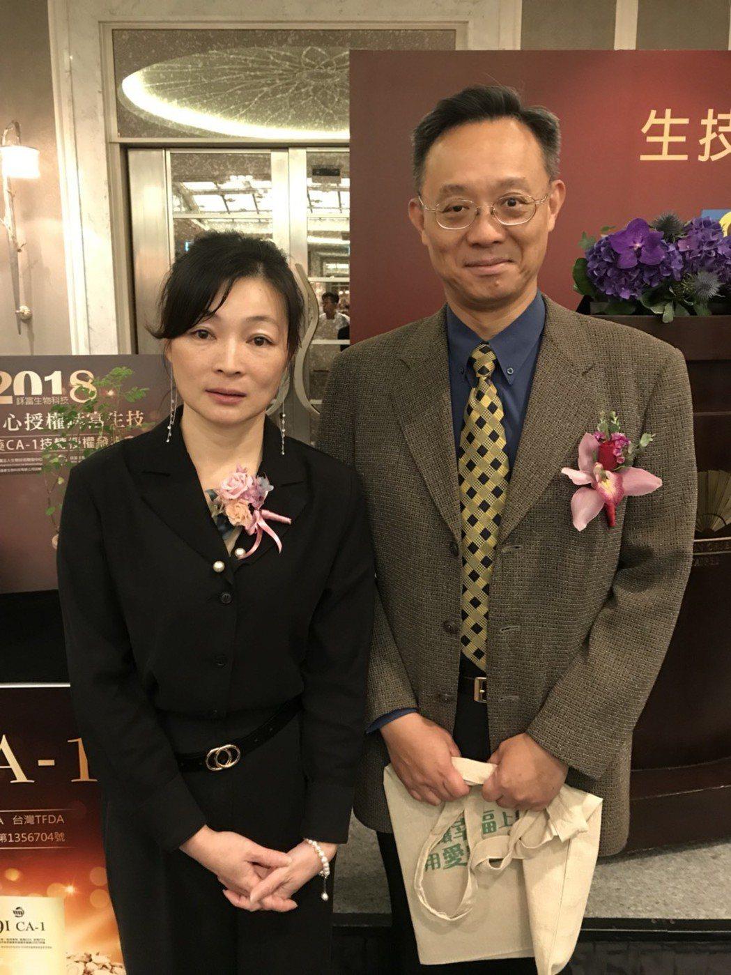 台灣電子健康學會理事長徐建業(圖右)表示,CA-1新藥未來若上市,將協助病患健康...