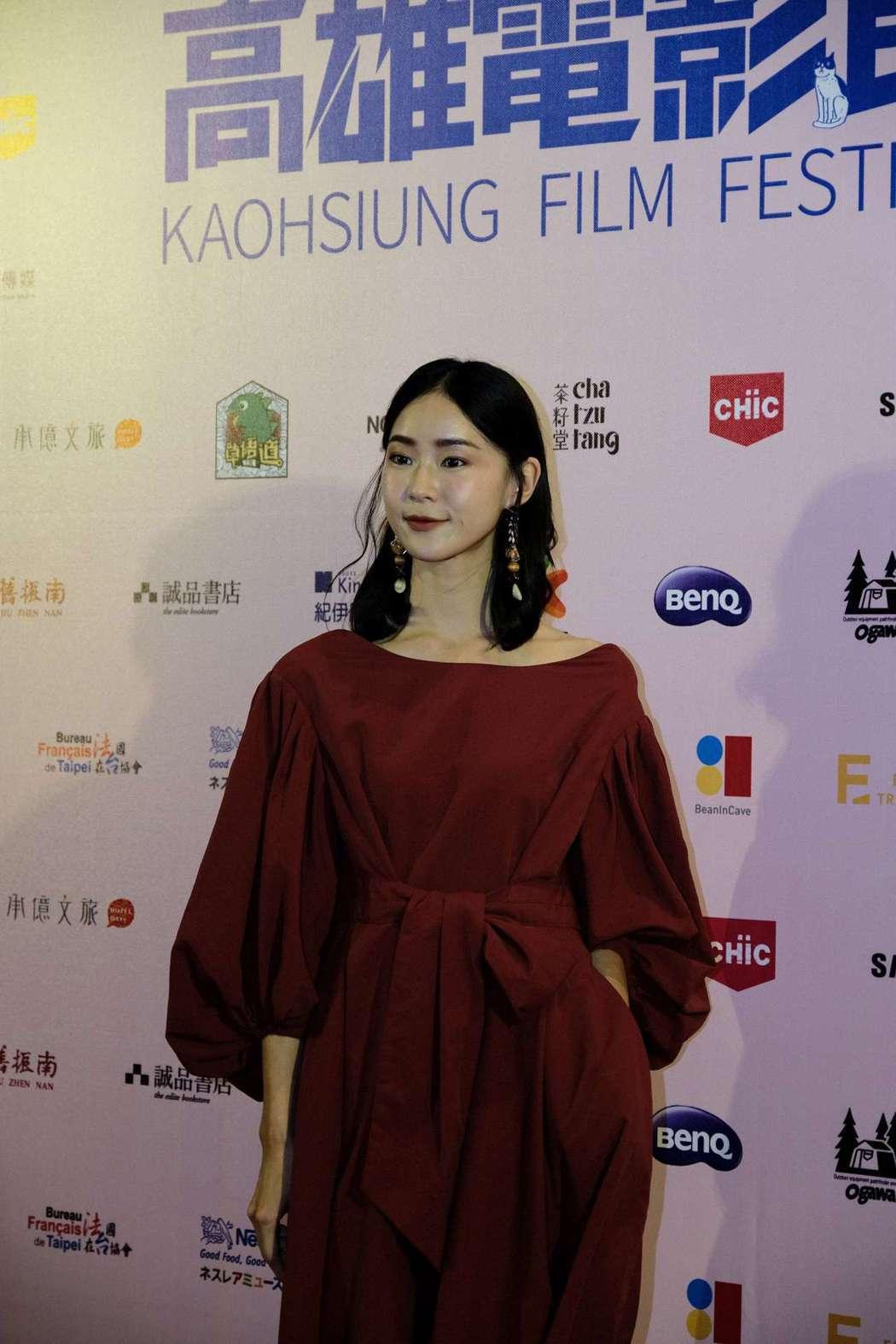 影展大使鍾瑶盛裝出席。圖/高雄電影節提供