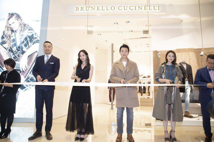 張鈞甯出席Brunello Cucinelli成都新櫃點開幕活動。圖/Brune...