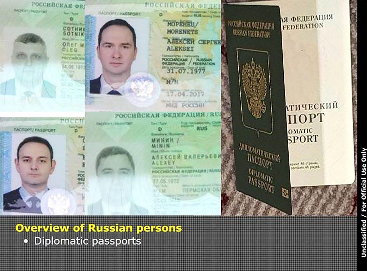 4名俄國軍情局特工今年4月持外交護照入境荷蘭,駭攻未遂遭驅逐出境。 (法新社)