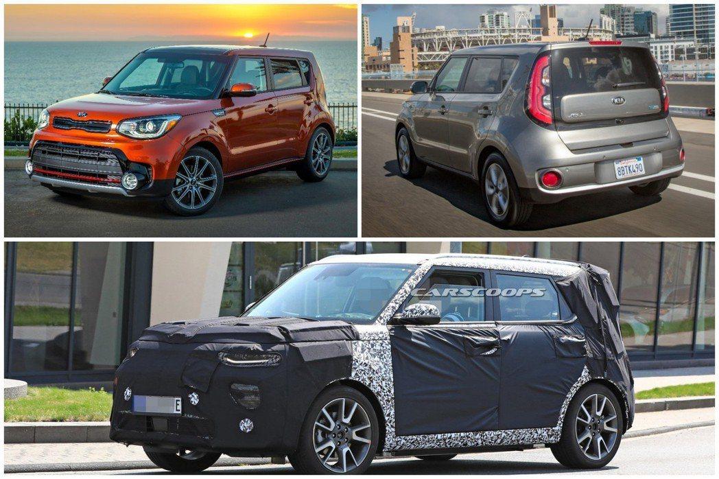 Kia Soul與純電車型Soul EV,據傳將在今年洛杉磯車展迎接大改款式樣。 摘自Kia、Carscoops