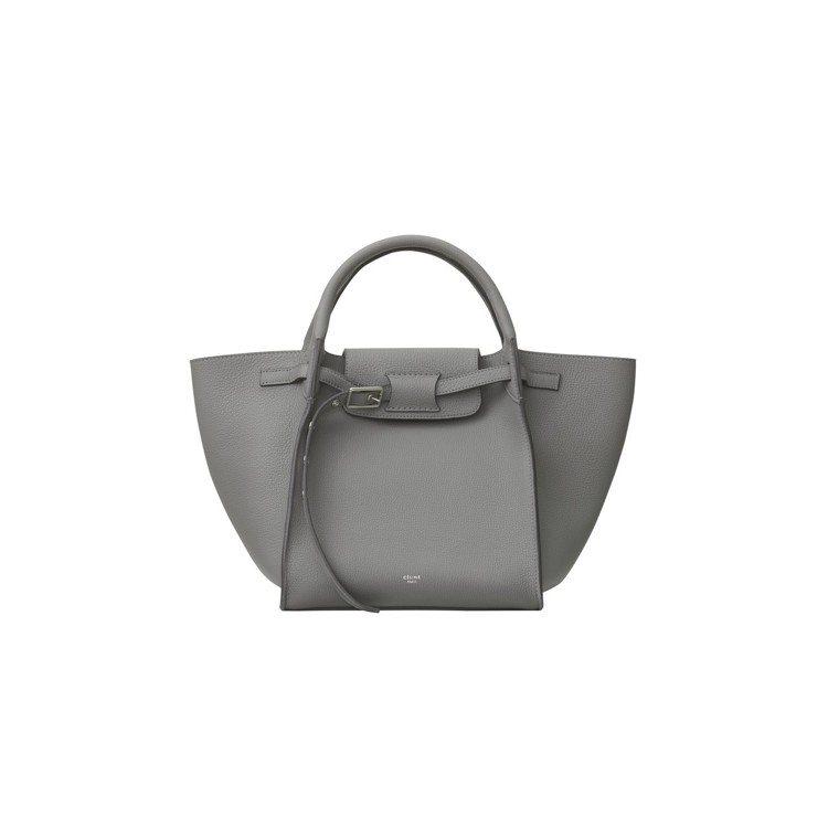 Big Bag鋅灰色小牛皮肩背提包,售價89,000元。圖/CELINE提供