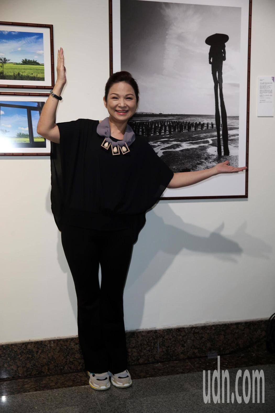 國際攝影節藝人攝影展-星光人家,參展藝人楊貴媚出席。記者曾吉松/攝影