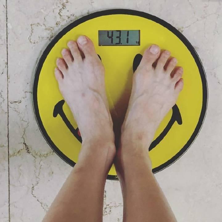 泫雅曬出自己體重。圖/摘自IG