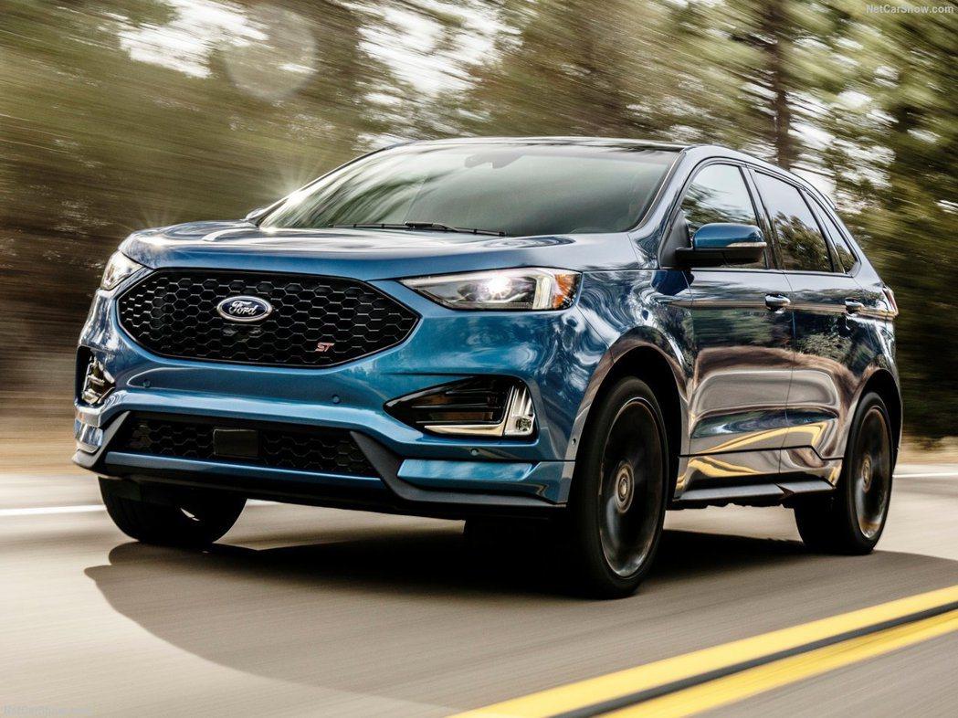 美國市場將會著重於跨界車與休旅車型上。圖為Ford Edge ST。 摘自For...