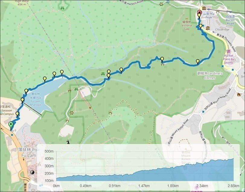 布魯分享於健行筆記網站的GPX,重要路口或地標都有詳細標記,點圖可轉至健行筆記看...