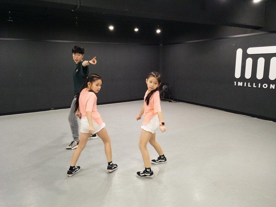 左左右右為新單曲赴韓國訓練。圖/新視麗娛樂提供