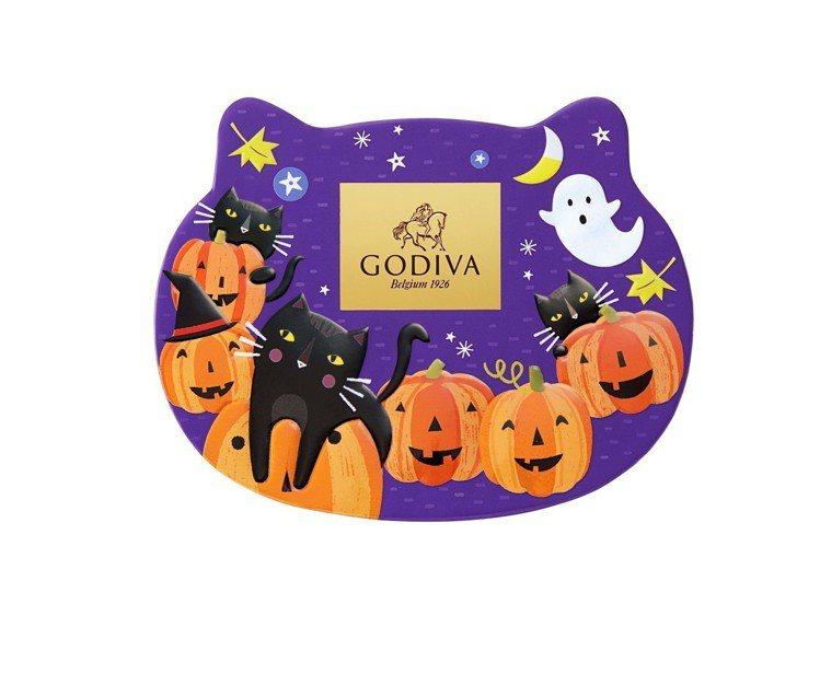 萬聖節巧克力小貓形禮盒,售價480元。圖/GODIVA提供