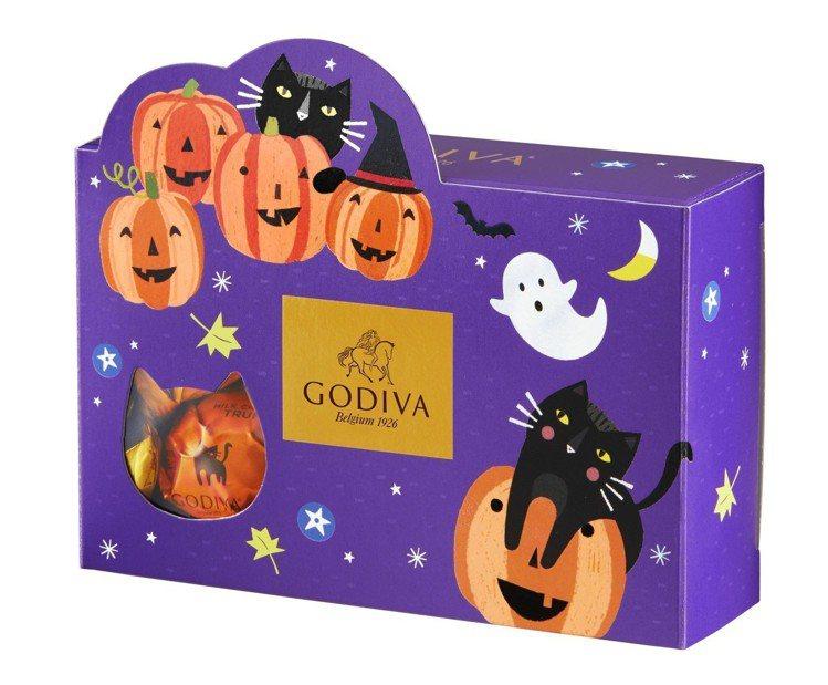 萬聖節松露巧克力禮盒7顆裝,售價280元。圖/GODIVA提供