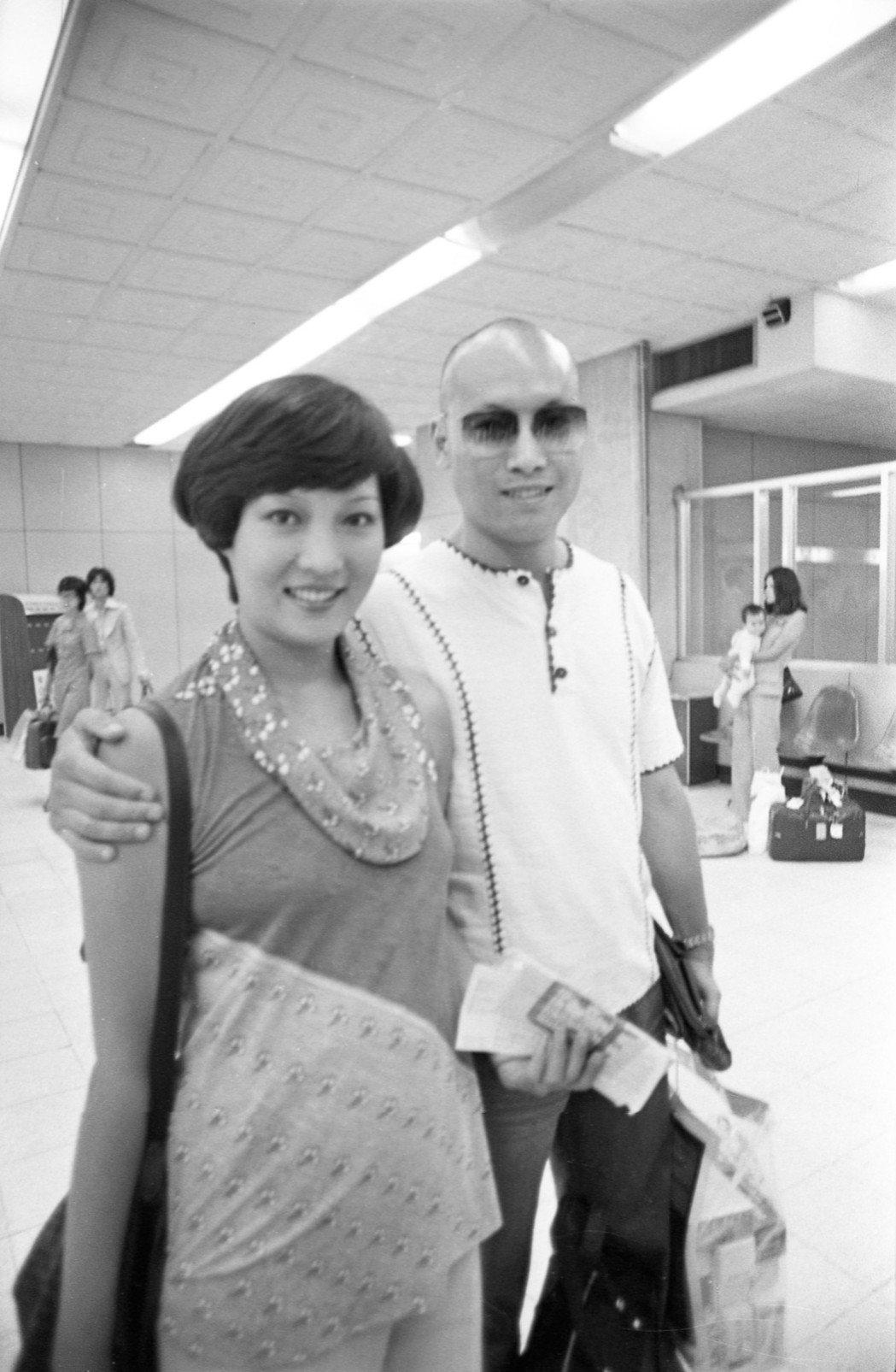 岳華(右)和恬妮。記者王宏光/攝影