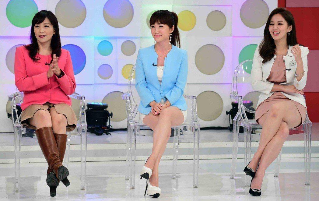 朱國珍(左起)、蕭彤雯和房業涵受邀上華視47週年台慶特別節目「祝你生日快樂」。圖