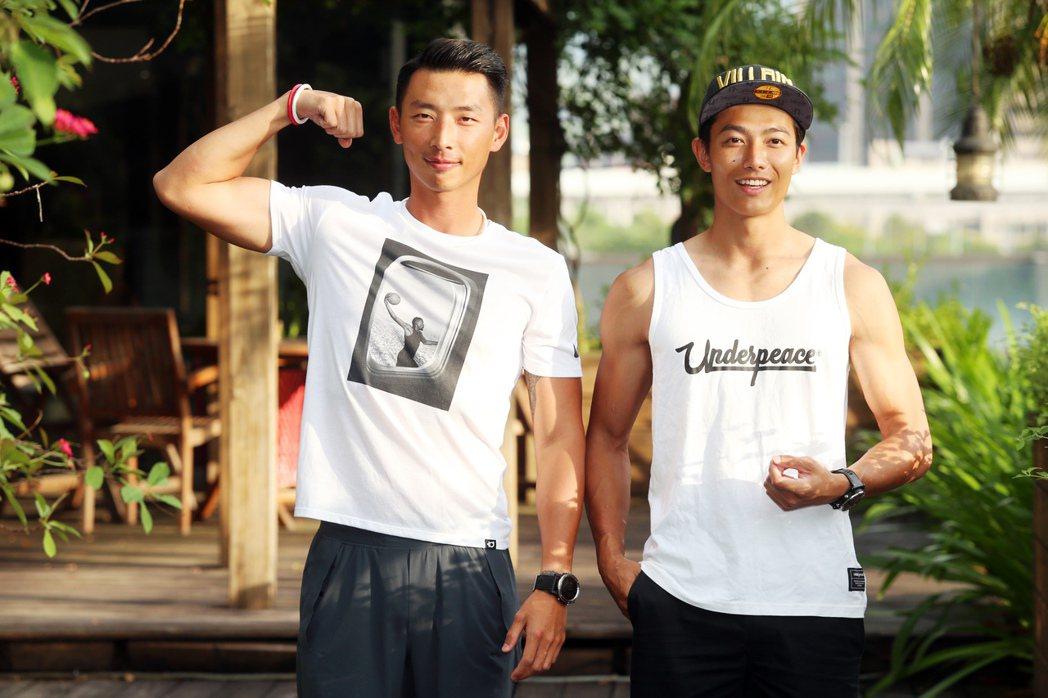 賴俊龍和賴東賢體格健壯不相上下。