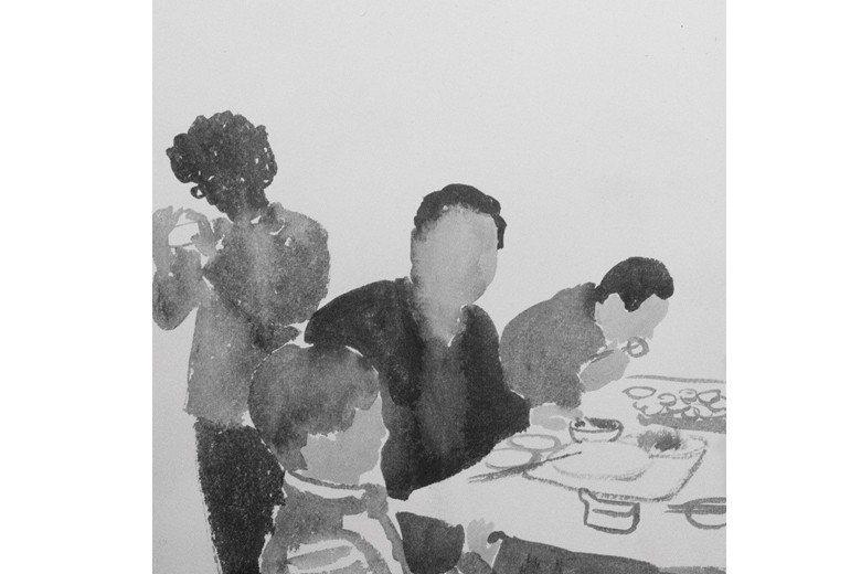 P.K.14《金蟬脫殼:為展覽而作的音樂》封面,為藝術家孫秋晨畫作。 取自/P.K.14臉書粉專
