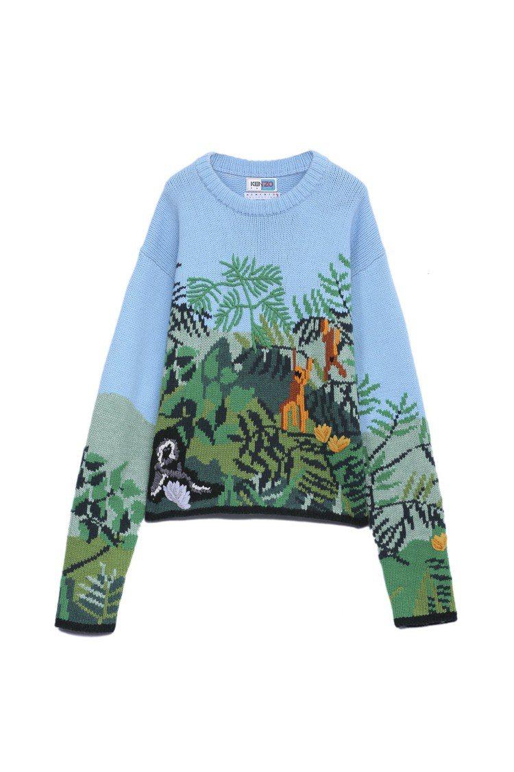 MEMENTO N°3女裝天空藍毛衣,38,800元。圖/KENZO提供