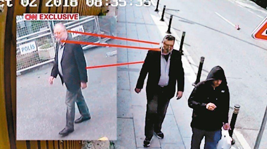 土耳其一名匿名官員21日向CNN透露,沙國特務殺害哈紹吉後,特意偽裝成哈紹吉走出...