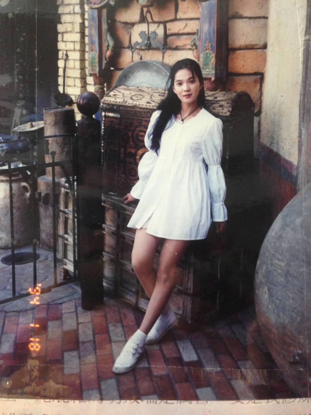 丁國琳24年前的舊照。 圖/擷自丁國琳臉書