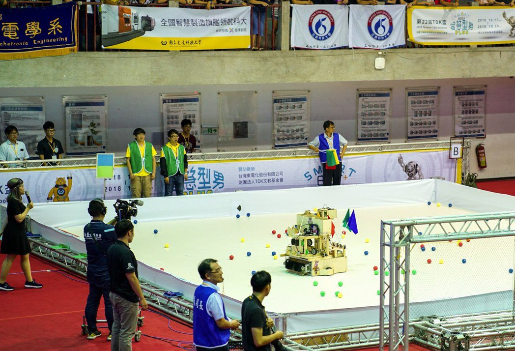 第22屆「TDK盃全國大專校院創思設計與製作競賽」激戰現況。 虎尾科大/提供