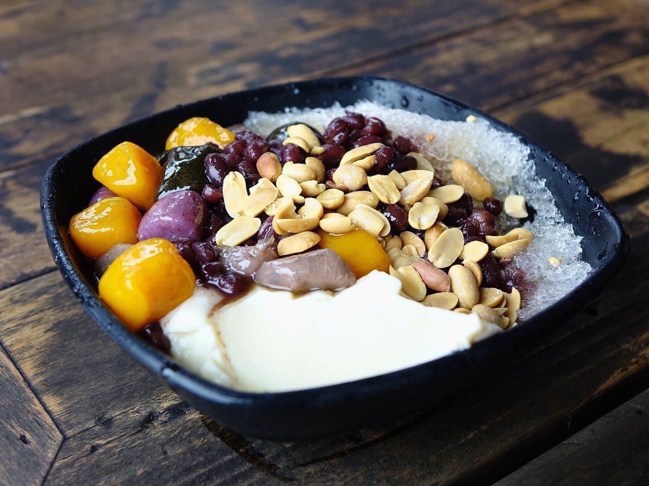 冰品甜湯裡的配料也全都是QQ的。圖片來源/pixabay