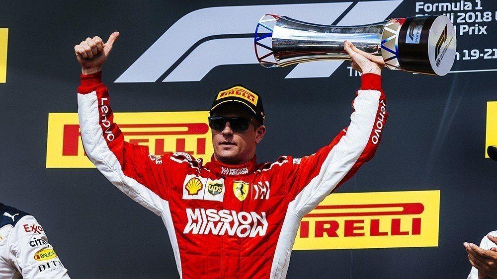 Kimi稍早才拿下今年美國GP冠軍,下季將轉戰Sauber車隊。 摘自Ferrari