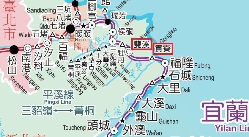 圖/取自台鐵營運路線圖