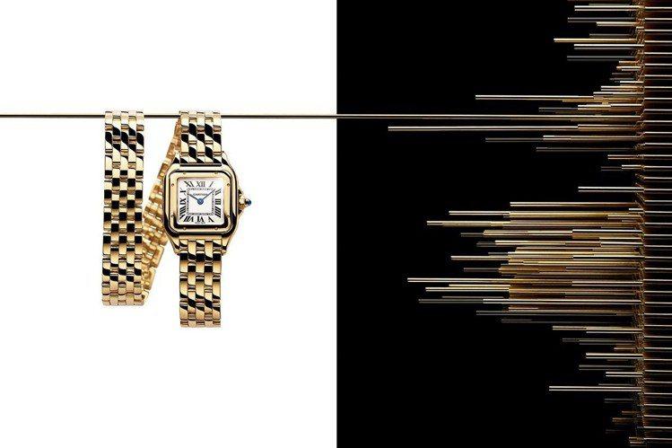 卡地亞美洲豹鑲鑽腕錶雙圈錶帶款 圖/卡地亞 提供