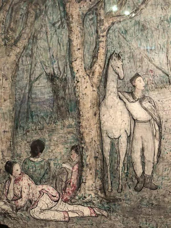 潘玉良 〈歌舞艷聲〉 (局部) 1966 布本油彩 安徽博物館
