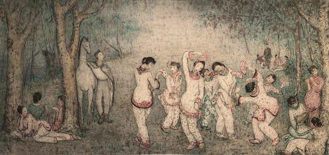 潘玉良 〈歌舞艷聲〉 1956 紙本彩墨 安徽博物館