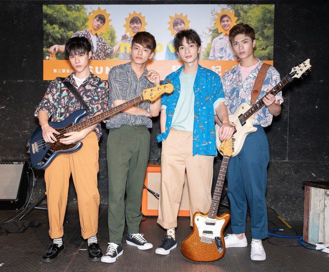 男團noovy 23日舉辦發片記者會。圖/伊林娛樂提供