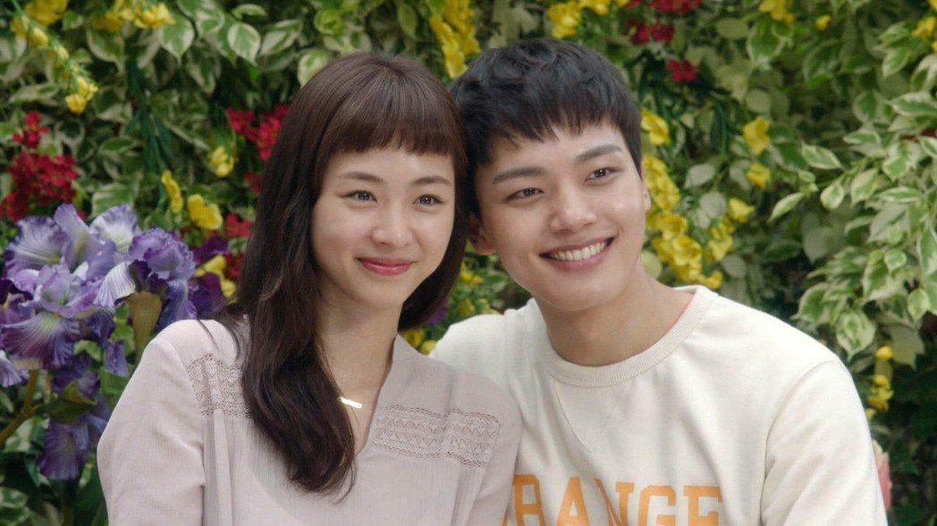 呂珍九與李沇熹在「重逢的世界」中上演姐弟戀。圖/東森戲劇台提供