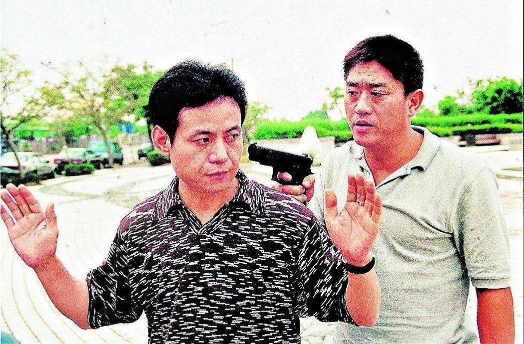 蔡振南、柯受良合作的電影「條子阿不拉」,曾到新竹靖廬拍攝。 圖/聯合報系資料照片