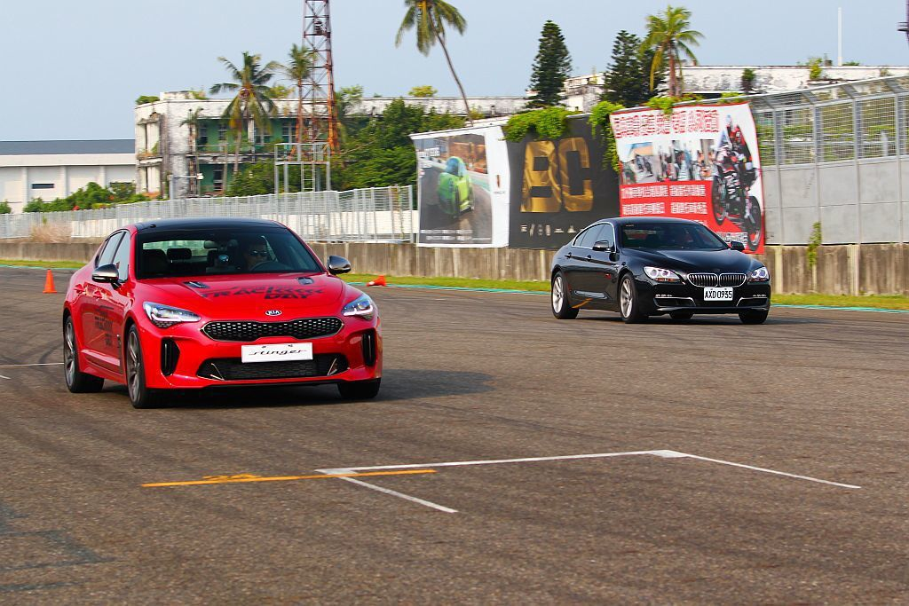 縱使找來同類型德系豪華車廠對手,但因為Kia Stinger 3.3 GT AWD擁有四驅系統和8速手自排系統加持,當然是0-100km/h加速關卡的優勝者。 記者張振群/攝影