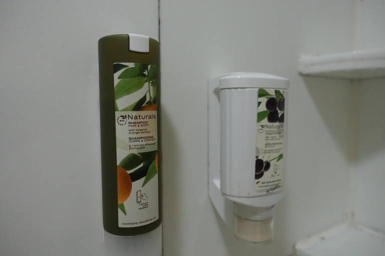 沒有獨立包裝的淋浴備品 圖文來自於:TripPlus