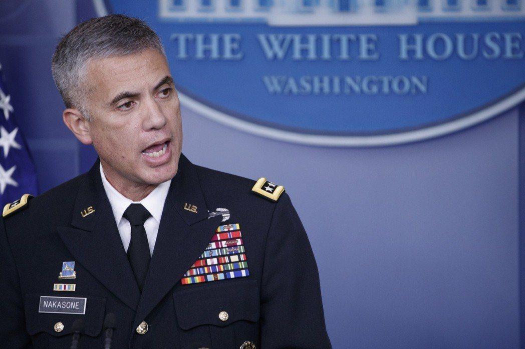 身兼美國網路作戰司令部司令和國安局局長的中曾根上將。歐新社